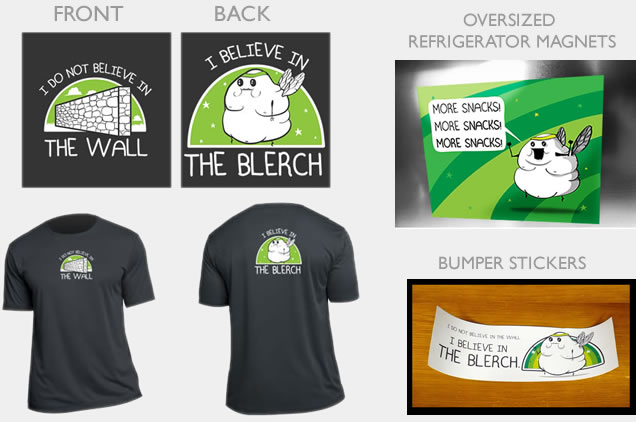 I believe in the Blerch running shirt