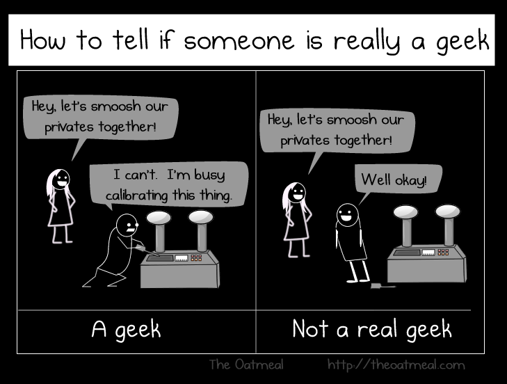 The geek vs nerd people starts a debate in 3, 2...