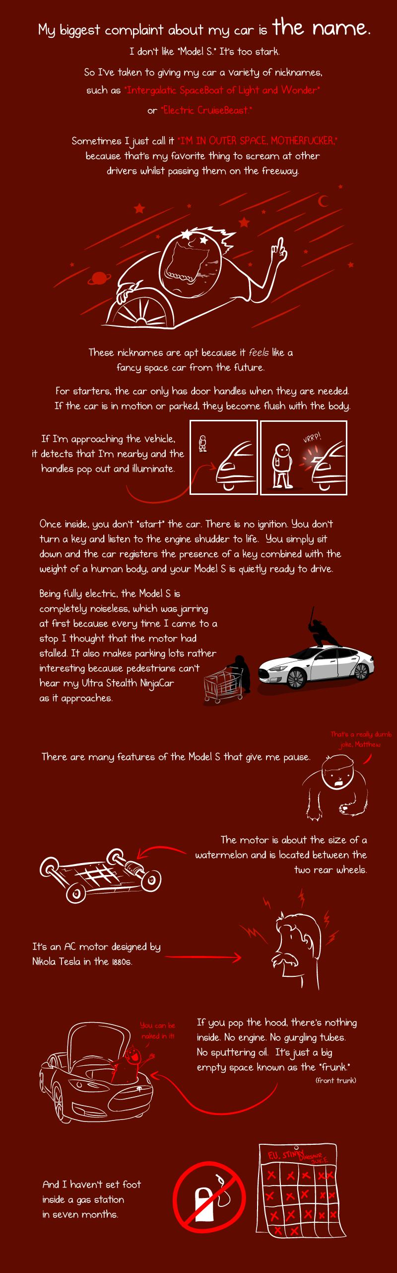 автомобиль тесла комикс