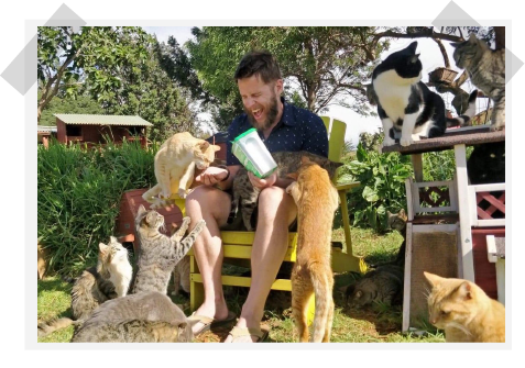 Matt visits a cat sanctuary