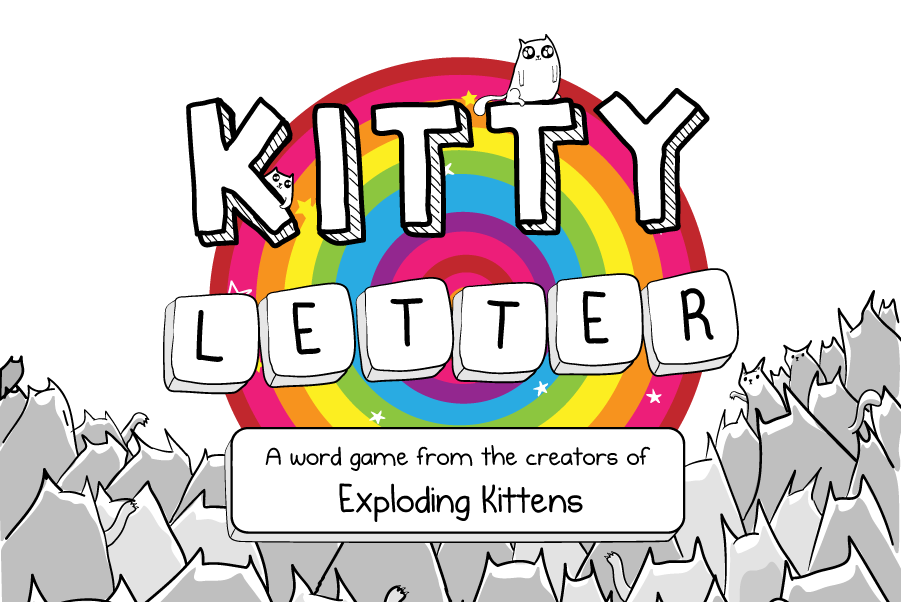 Kitty Letter - a word game from the creators of Exploding Kittens