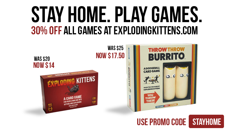 30% off everything at ExplodingKittens.com