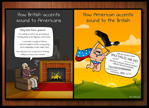 American VS British accents