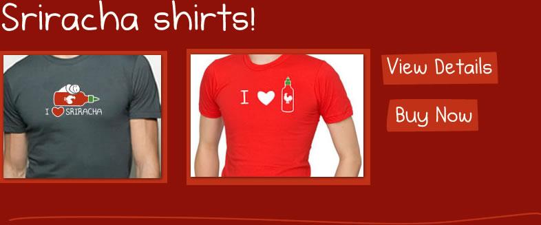 Sriracha shirts