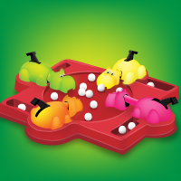 Cats Playing Hungry Hungry Hippos