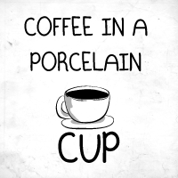 Coffee in a porcelain cup
