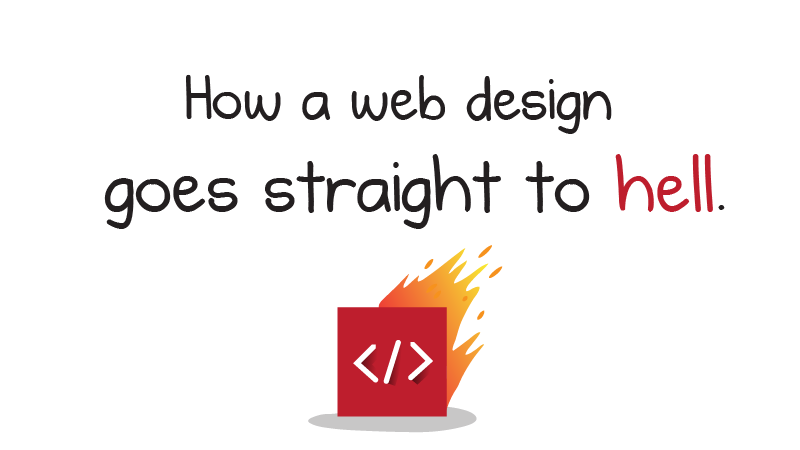 How a Web Design Goes Straight to Hell - The Oatmeal