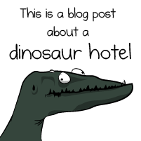 This is a blog post about dinosaurs, Tesla, and a hotel in Colorado