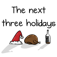 The next three holidays