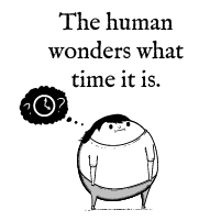 The human wonders what time it is