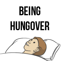 Being hungover