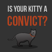 Is your kitty a convict?