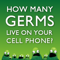 How many germs live on your cell phone?