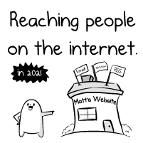 Reaching people on the internet in 2021