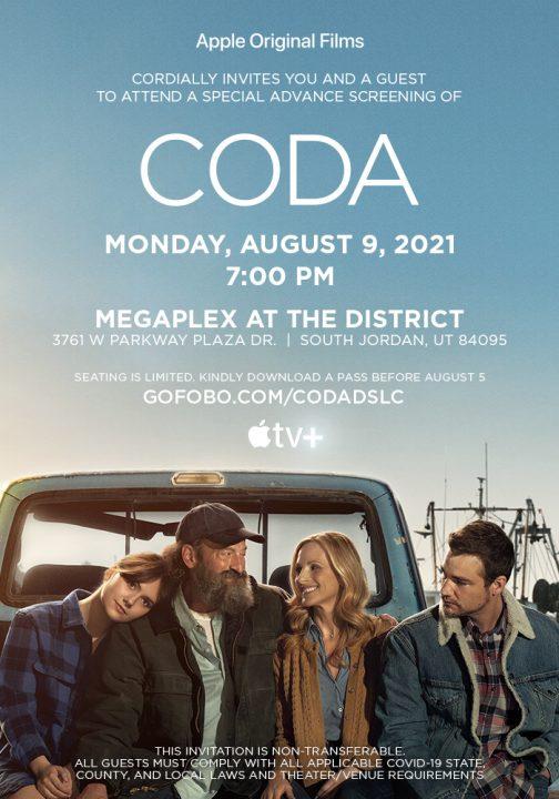 'CODA' Advance Screening Passes