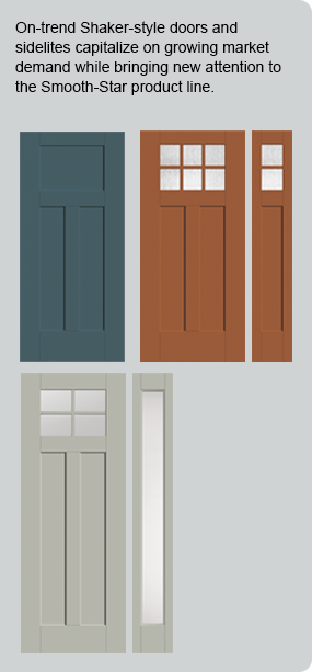 A transitional update to the historic Shaker-style new Smooth-Star Shaker-style doors and sidelites deliver a simple design with broad appeal. & Smooth-Star® Shaker-Style Doors and Sidelites | Therma-Tru Doors