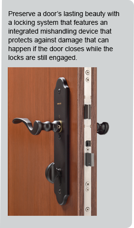Multi-Point Locking System Handlesets | Therma-Tru Doors
