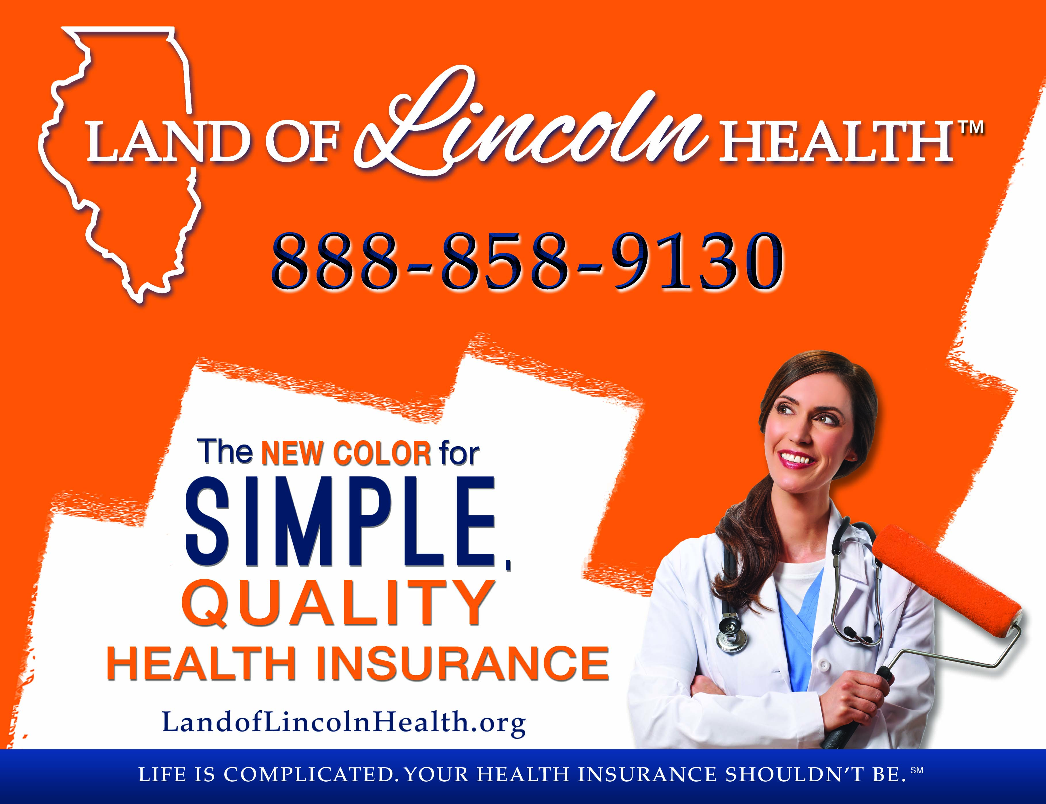 The_san_jose_group_land_of_lincoln_health_two_sheet_billboard_ad
