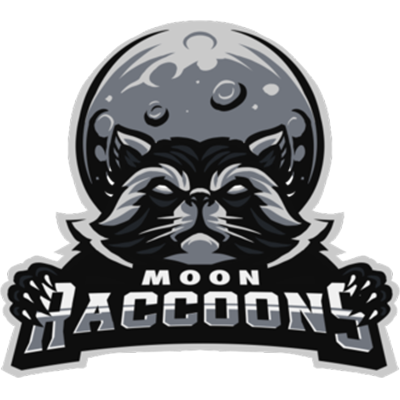 Moon Raccoons Black