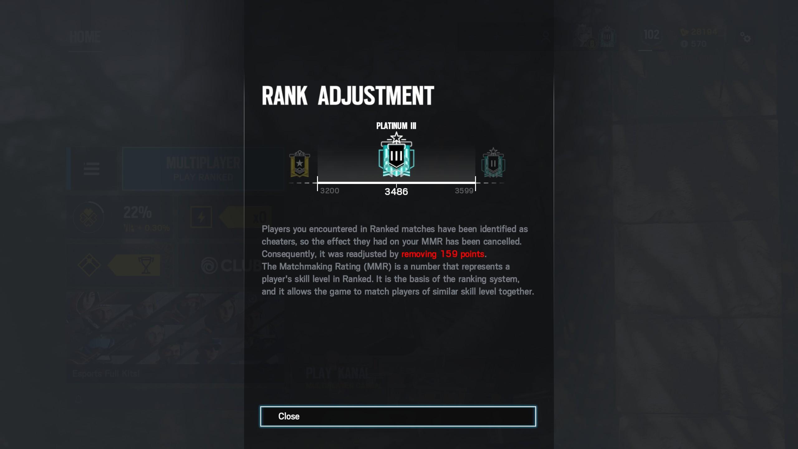 Rainbow Six Siege ranked adjustment, © Ubisoft