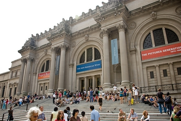 The Metropolitan Museum of Art, in front of the New American Wing