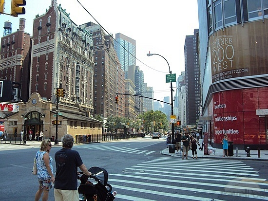 Corner of 200 West 72nd Street in New York City