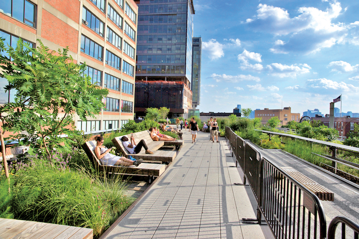 The High Line located within view of plenty of Chelsea office space