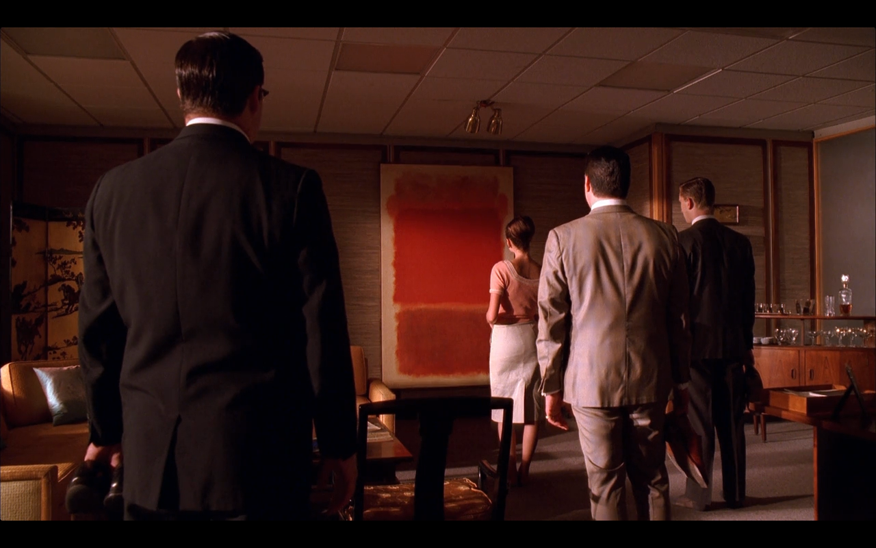 The Rothko painting in Bert Cooper's office caused quite a stir on Mad Men.