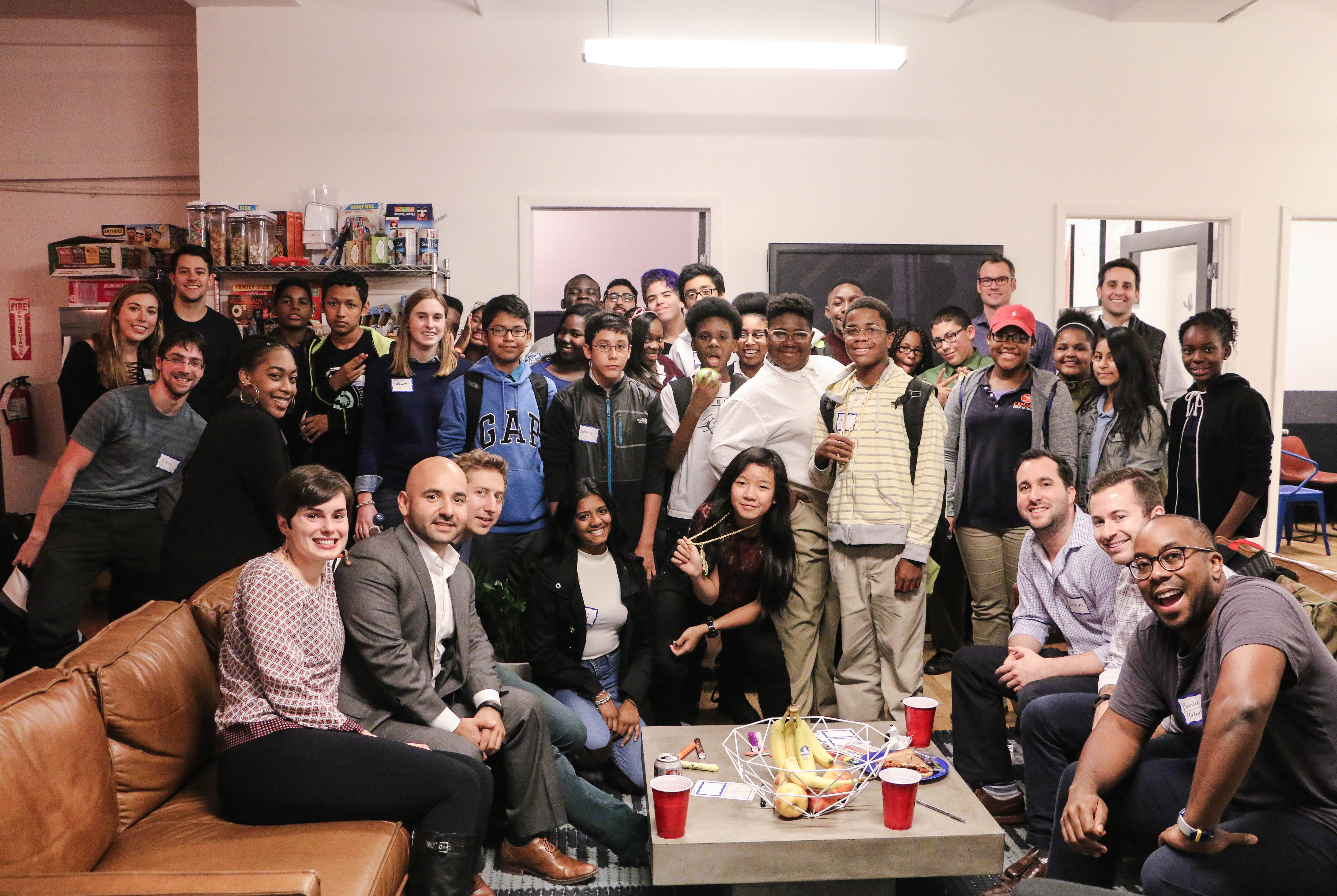 TheSquareFoot team with a fantastic group of future business leaders. Photo by Danielle Chan.