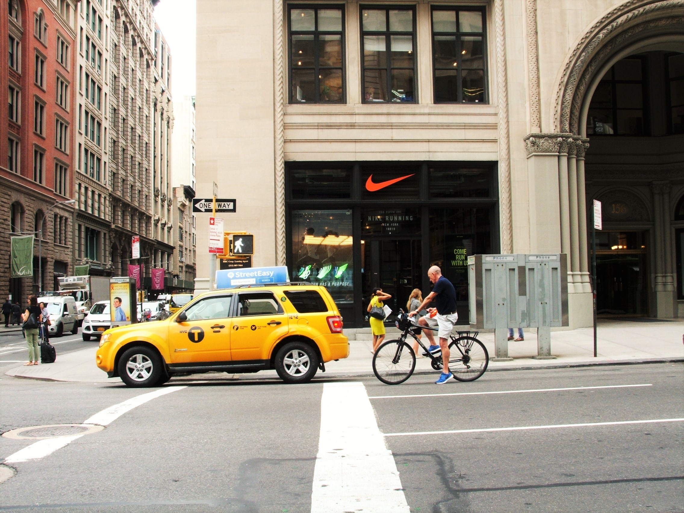 photo; the Nike store on 5th Avenue