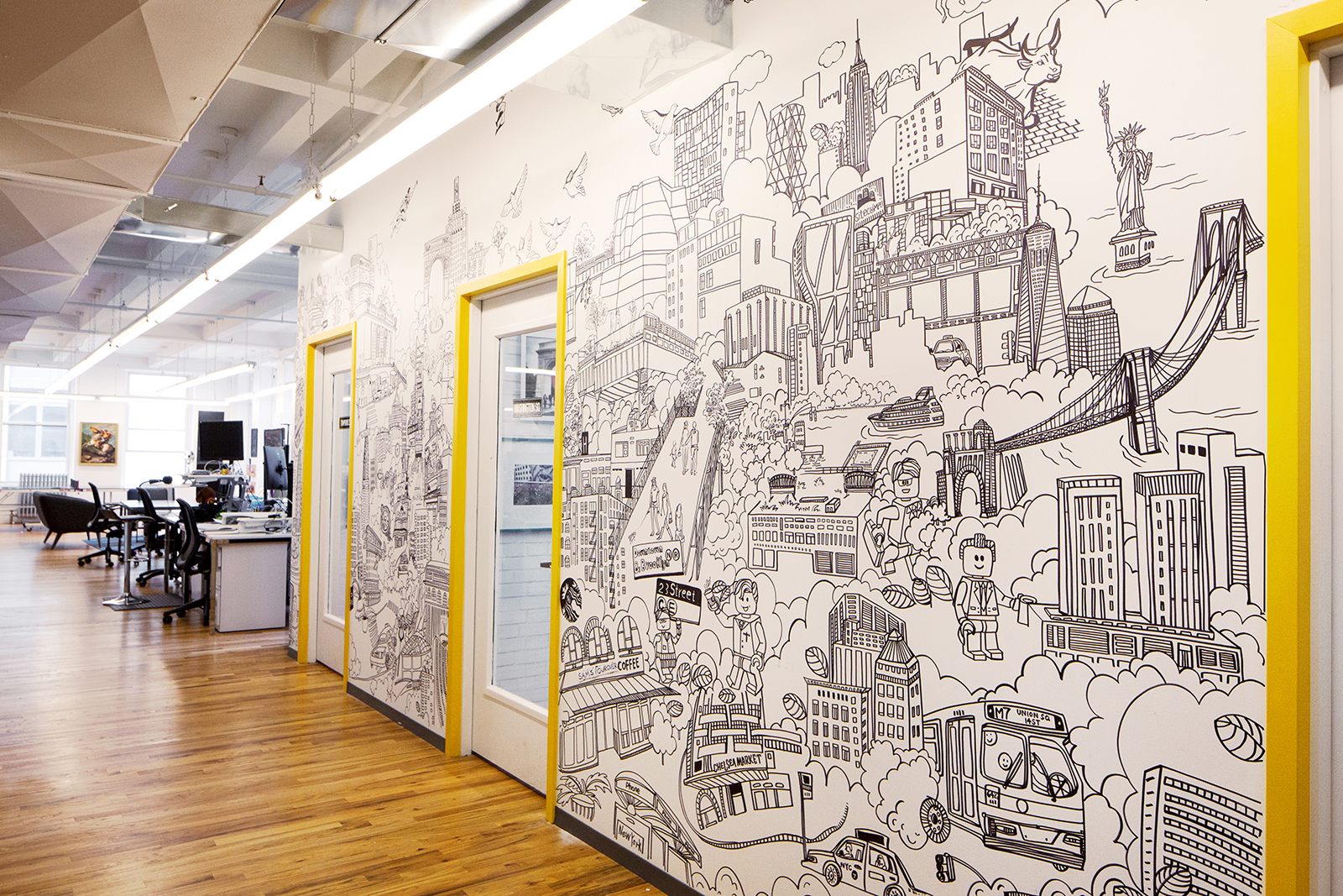 photo; Site Compli's office mural