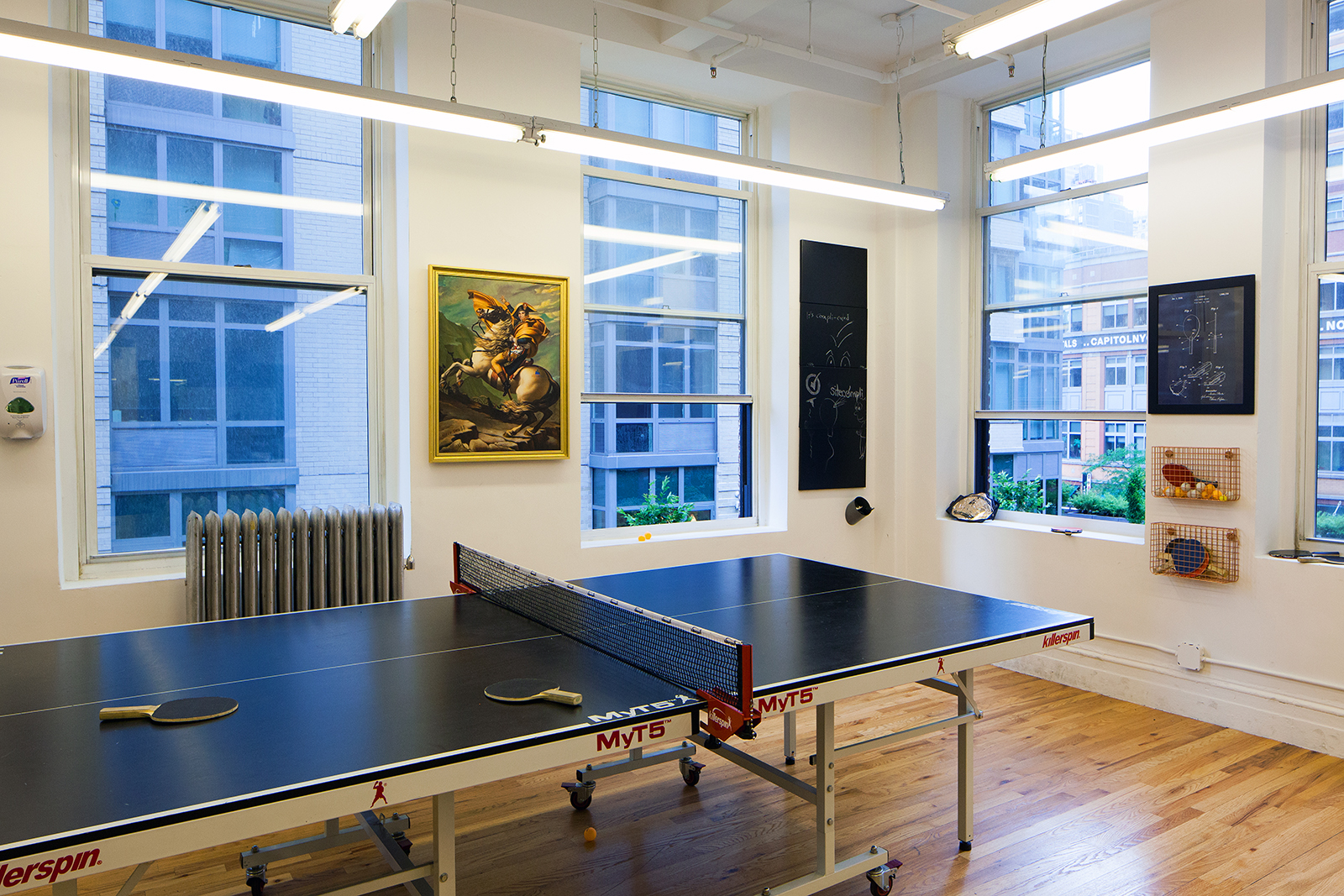 office; Site Complie's office ping pong table