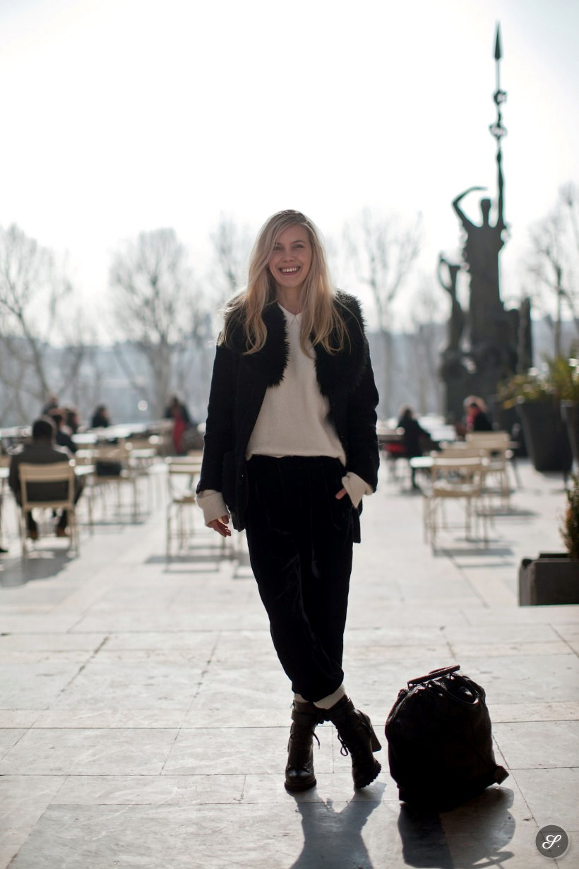 Chantal van der Meijden of Cocorosa on a street style photo.