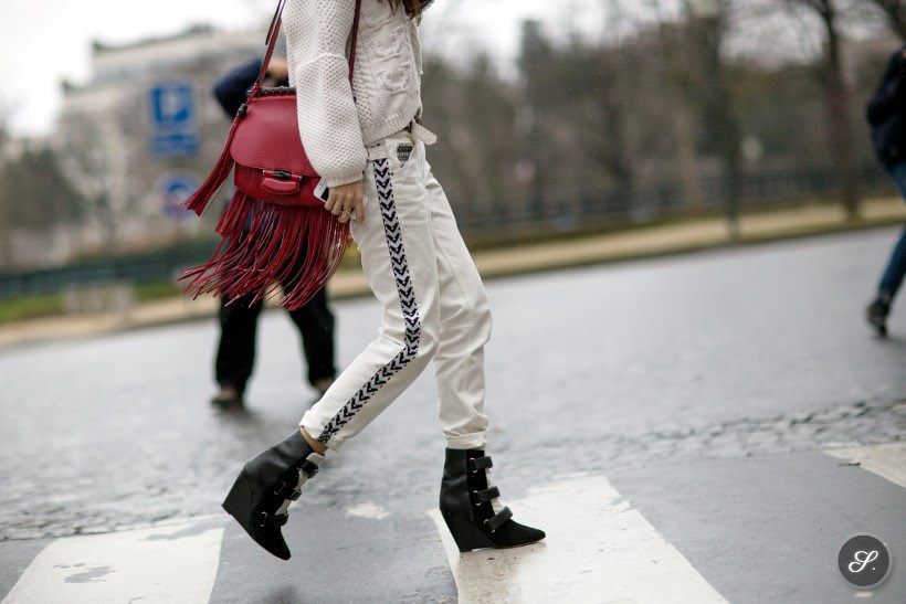 Chiara Totire on a street style photo taken during Paris Fashion Week Fall/Winter 2014.