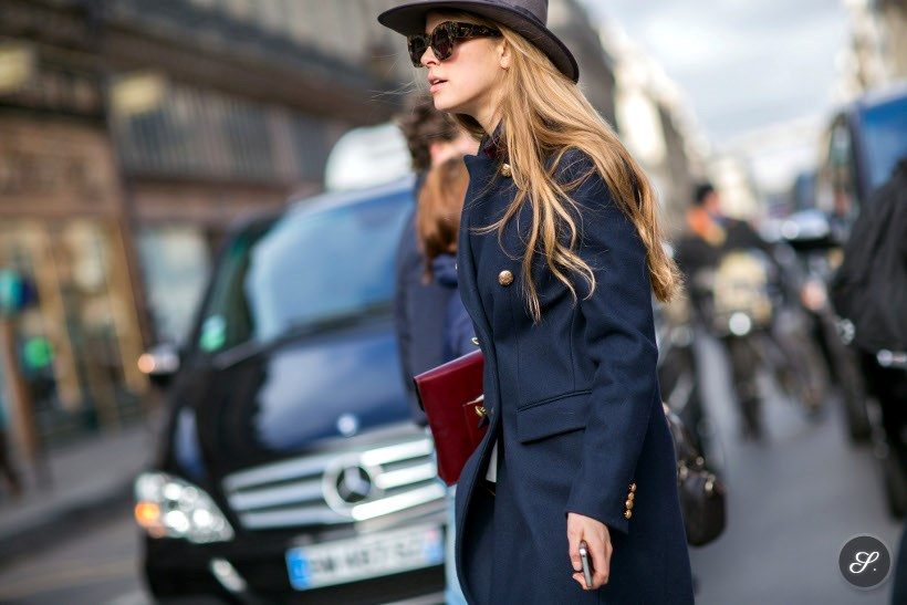 street style photo of Monica Ainley after Stella McCartney during Paris Ready to Wear Women's Fashion Week Fall/Winter 2014.