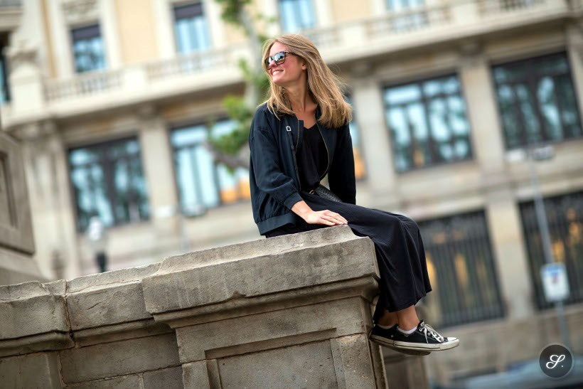 Lisa Pettersson on a spring street style photo taken in Barcelona Spring 2014.