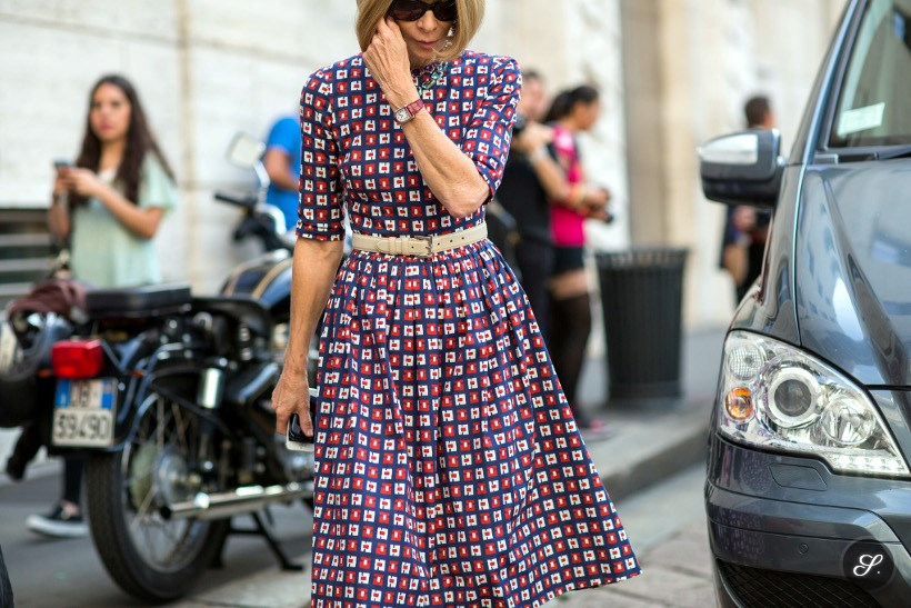 Anna Wintour street style photo