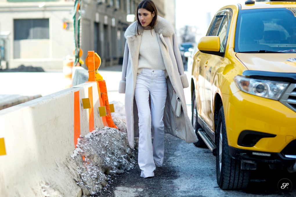 Patricia Manfield on a street style photo taken during New York Fashion Week AW15