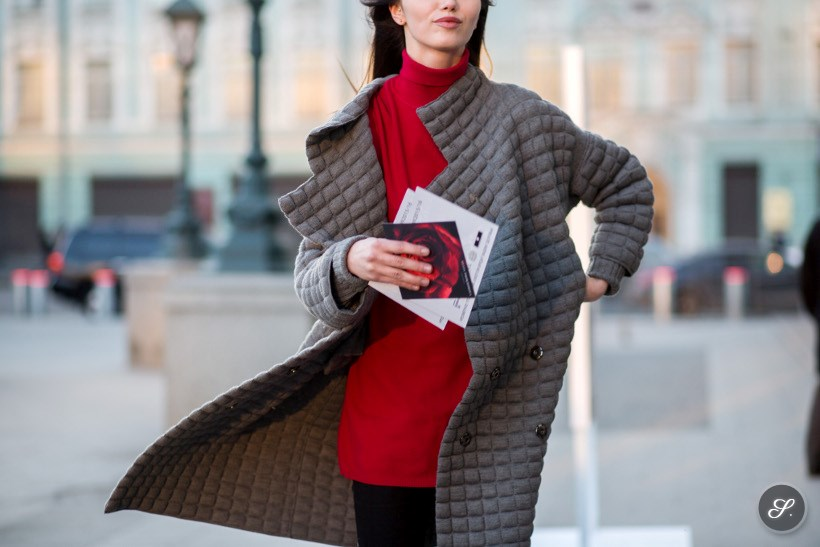 model street style photo at Moscow Fashion Week