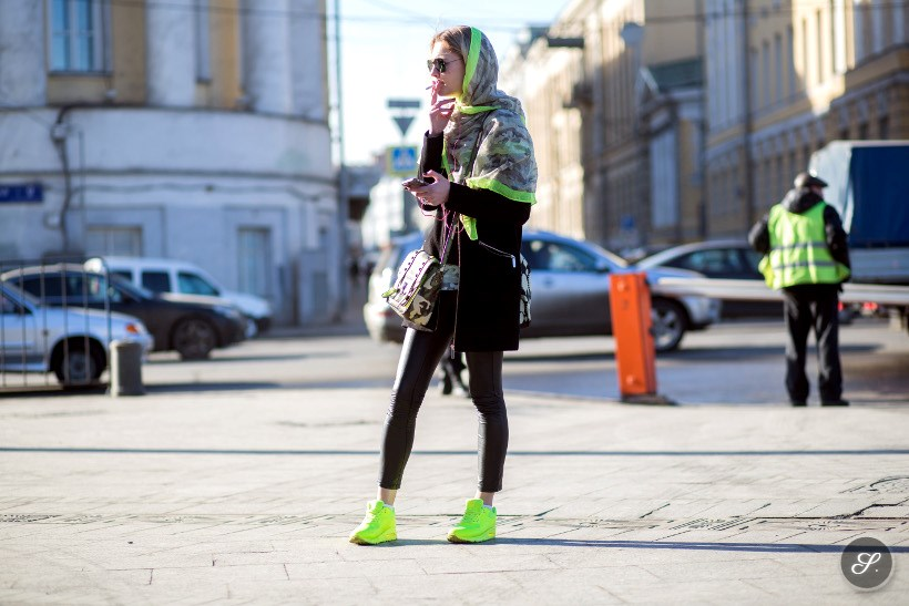 street style photo at Moscow Fashion Week