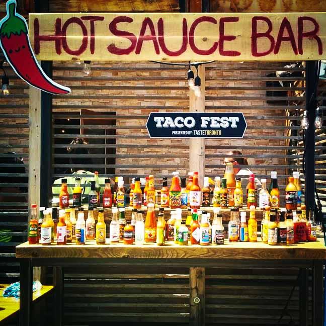 Taco Fest Hot Sauce Bar
