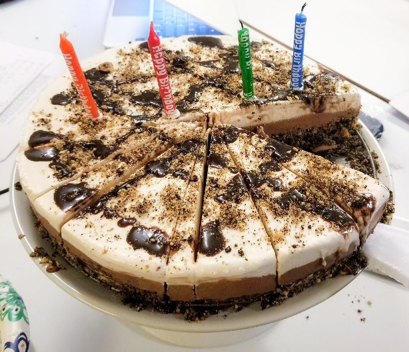 The Vegan Ice Cream Cake I Made For My Birthday Last Year Think Hersheys Drizzle Was A Perfect Addition Tafsia Shikdar