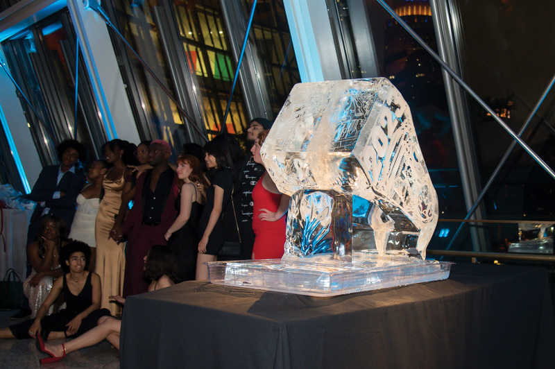 9648 ring deliv ice sculpture
