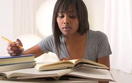 Black woman college student studying footage 022541435 prevstill