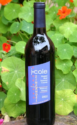 J. Cole Wines 2005 Rebecca's Zinfandel  750ml Wine Bottle