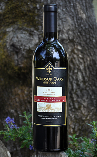 Windsor Oaks Vineyards 2006 Reserve Cabernet Sauvignon 750ml Wine Bottle