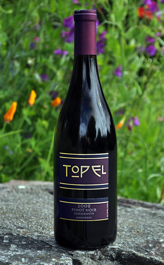 Topel Winery 2008 Serendipity Vineyard Pinot Noir 750ml Wine Bottle