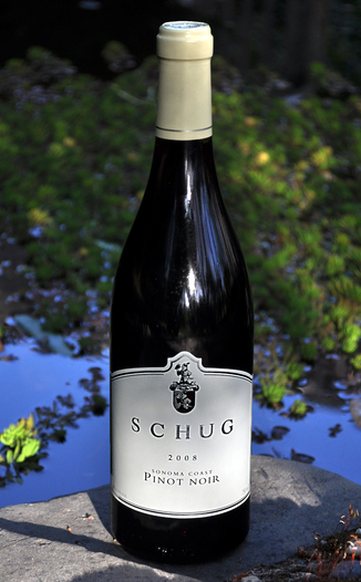 Schug Carneros Estate 2008 Sonoma Coast Pinot Noir 750ml Wine Bottle