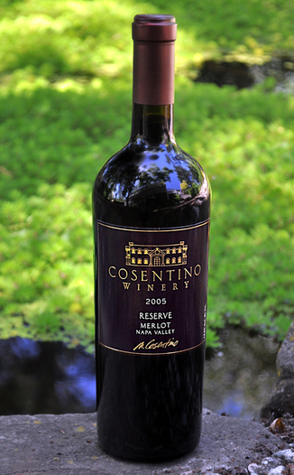 Cosentino Winery 2005 Napa Valley Reserve Merlot 750ml Wine Bottle