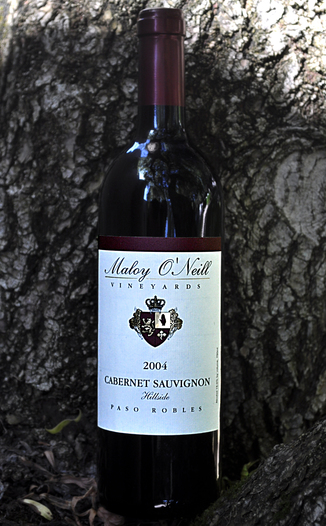 Maloy O'Neill Vineyards 2004 Hillside Cabernet Sauvignon 750ml Wine Bottle
